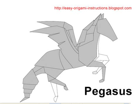 pegasus origami origami pegasus origami