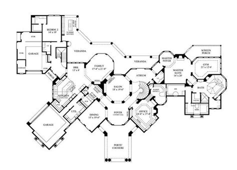 luxury homes floor plans luxury home plans mediterranean home design 8768