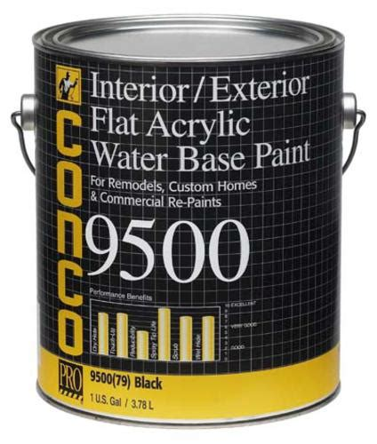 acrylic paint exterior conco 9500 flat black water based interior exterior