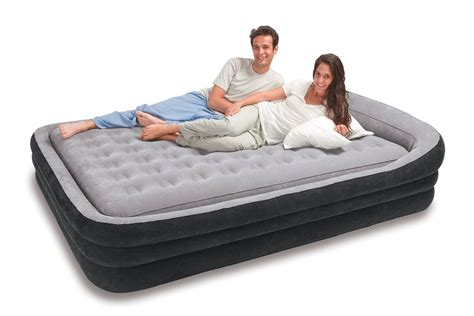 air mattress beds with frame intex deluxe pillow rest raised comfort review