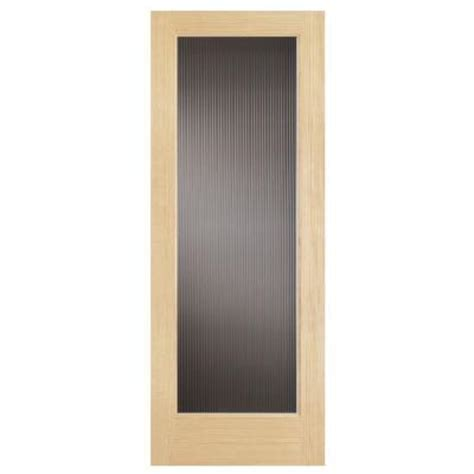 interior glass doors home depot steves sons 30 in x 80 in modern lite solid pine reed glass interior door slab