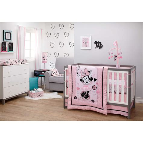 disney baby crib bedding disney minnie mouse hello gorgeous 3 crib bedding