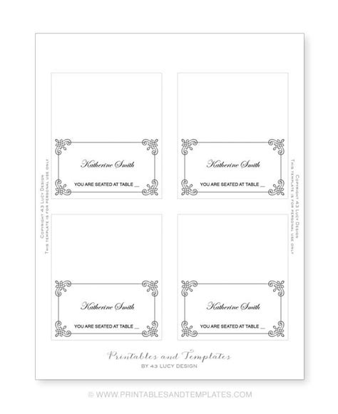 how to make table place cards in word place cards template lisamaurodesign