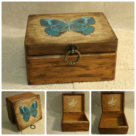 wooden decoupage boxes butterfly box jewelry wood box decoupage box butterfly by