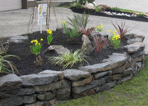 rock wall garden ideas rock walls landscaping walls stack