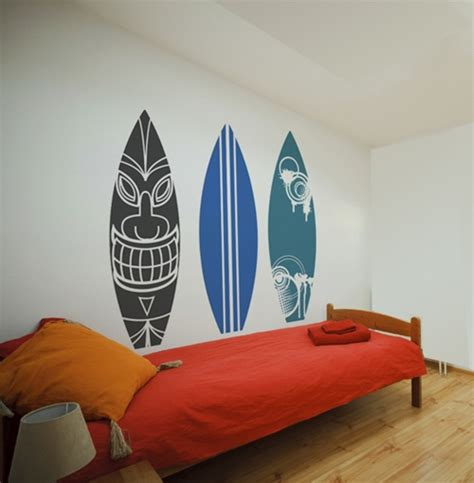 surf wall stickers surfboard wall decals stickers