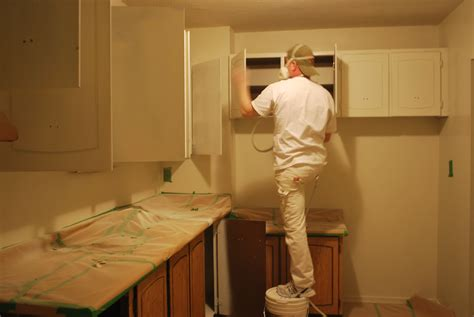spray painting kitchen cabinets spray kitchen cabinets like a pro