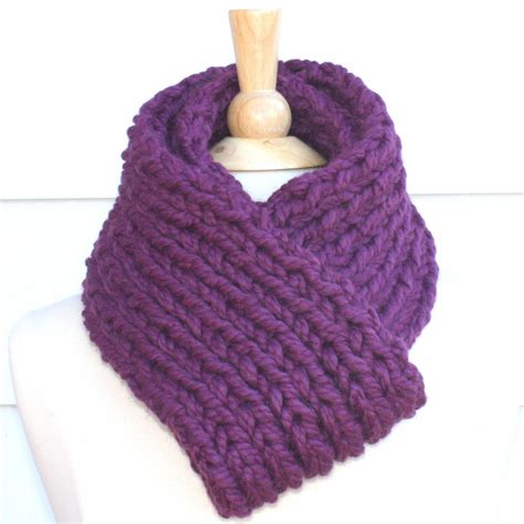 how to knit a winter scarf knit scarf soft winter scarf plum purple thick warm