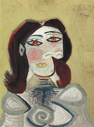 picasso paintings recent sales gallery talk pablo picasso s buste de femme
