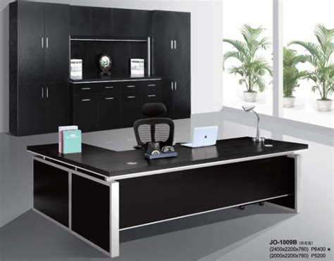 black office desks modern hi class black office executive table furniture