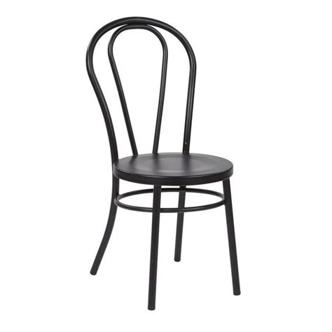 metal patio dining sets metal patio dining chair in solid black set of 2