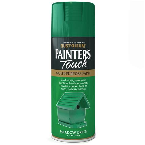 spray painters touch rust oleum painters touch meadow green gloss spray paint