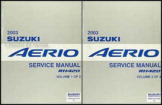 car repair manuals online pdf 2003 suzuki aerio lane departure warning search