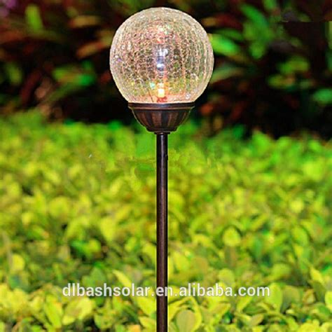 solar garden lights unique solar garden light colorful crackle glass globe