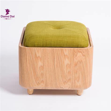 ottoman stool storage soid oak wood organizer storage stool ottoman bench