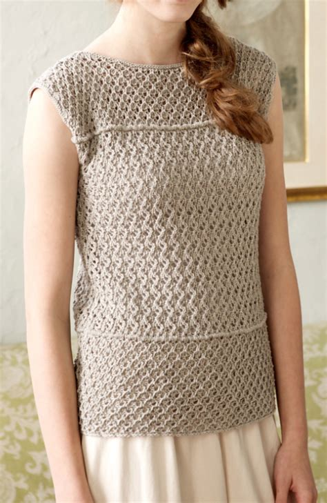 free knitted top patterns sleeveless tops knitting patterns in the loop knitting