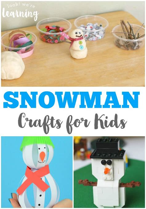 winter crafts for to make easy snowman crafts for look we re learning