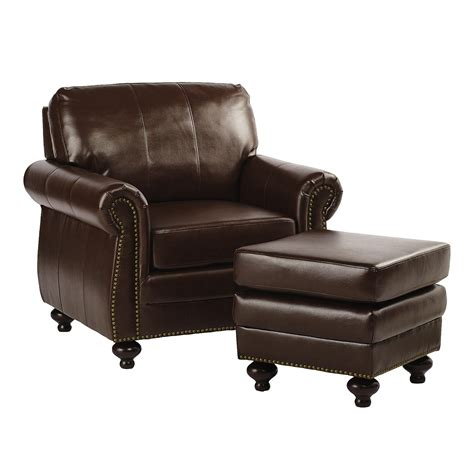 chair ottoman bonded leather library chair with ottoman tree