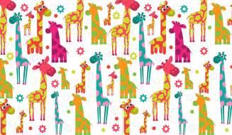Woodland Wall Mural cartoon giraffes wall mural patterned wallpapers custom