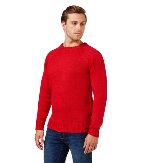 mens knitted sweater woolovers mens wool fishermans crew neck jumper