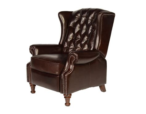 leather wingback recliner vintage cranberry leather tufted wing back recliner francis by lazzaro c9016 ebay