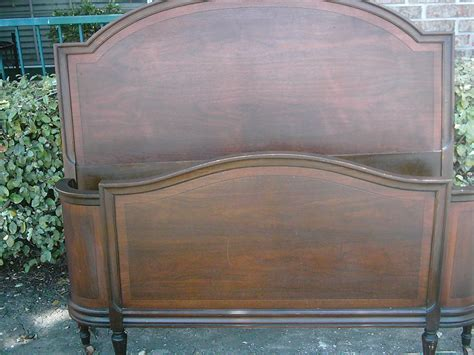antique wooden wrap around bed frame collectors weekly
