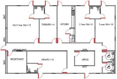 preschool floor plans design i like the layout and shape but i would switch some of the