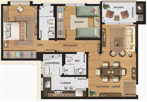 House Plans With Mil Apartment planta apartamento 7x10 3 quartos pesquisa google home