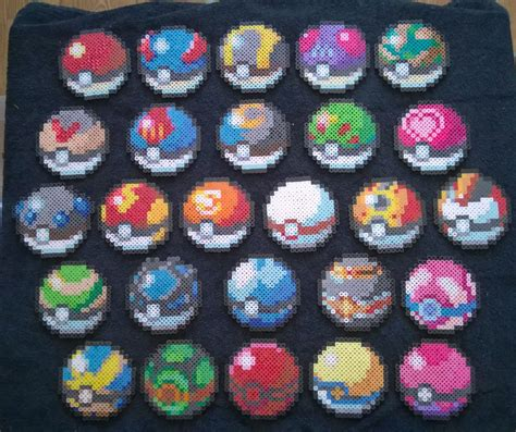 pokeball perler bead pattern perler pokeballs by aesynnezephyrstorm on deviantart