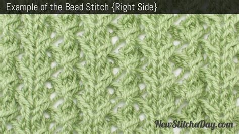 how to yrn in knitting the bead stitch knitting stitch 194