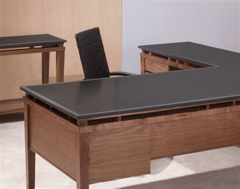 executive l shaped desks l shaped executive desk walnut desk and attached return