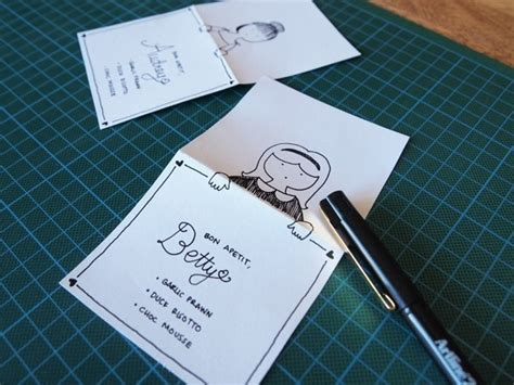 how to make menu card diy place cards with personalised characters 183 how to make
