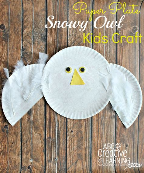 paper plate owl craft paper plate snowy owl craft
