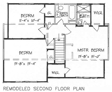 2nd floor plan design add a second floor cap04 5179 the house designers