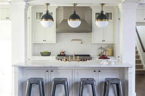 kitchen island with columns kitchen island columns transitional kitchen julie interiors