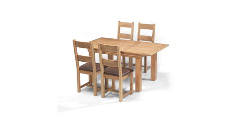 oak extending dining table and 4 chairs breton oak 140 180 cm extending dining table and 4 chairs