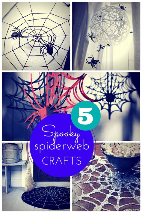 spooky crafts for 5 spooky spiderweb craft ideas for