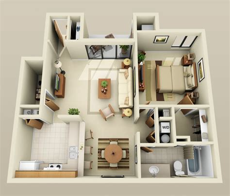 bedroom one 1 bedroom apartment house plans