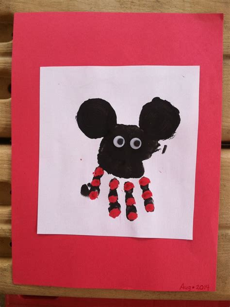 mickey mouse craft projects mickey mouse handprint arts crafts for raylen