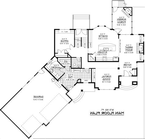 small luxury home floor plans modern house plans with porches modern house