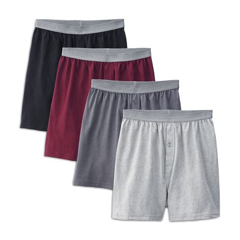 fruit of the loom knit boxers fruit of the loom s 4 pack premium cotton knit boxers