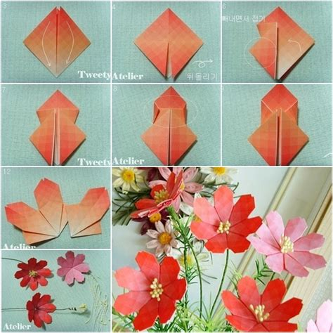 make a origami flower how to make beautiful paper origami flower fab diy