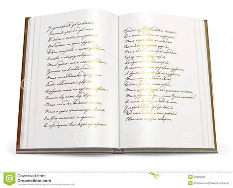 poetry book pictures open book of poems stock illustration image of