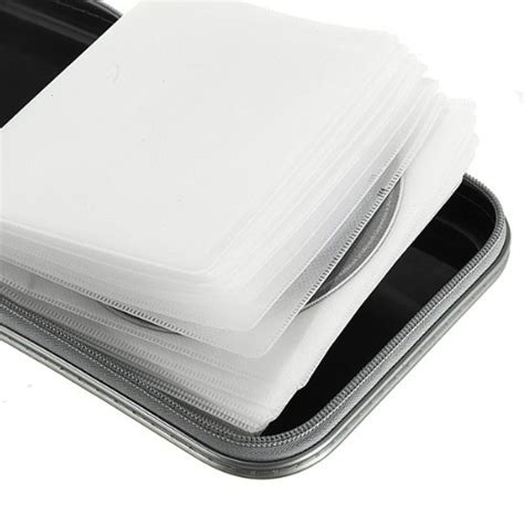 rangement boite pochette etui range 40 cd dvd sac plastique s6 ebay