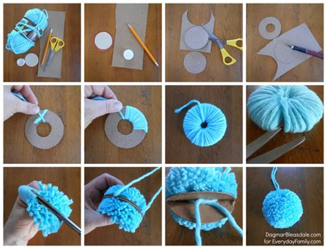 how to make a pom pom for a knit hat a charming diy garland