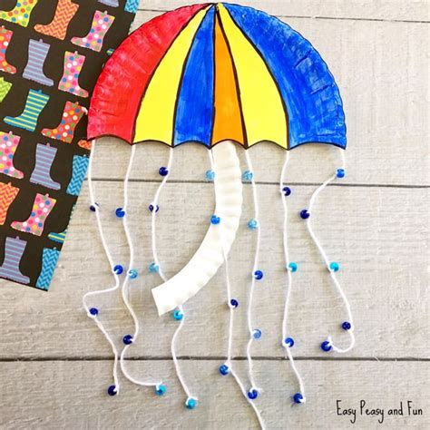 umbrella craft ideas for umbrella paper plate craft weather crafts for