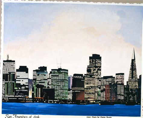 paint nite san francisco san francisco skyline painting print