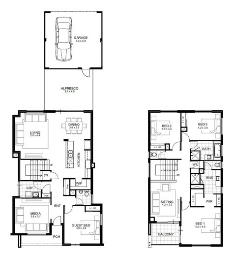 two storey house plans perth storey 4 bedroom house designs perth apg homes