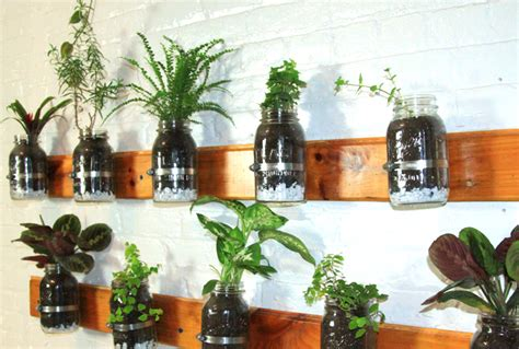 jar herb garden wall 8 living walls and vertical gardens to bring a touch of