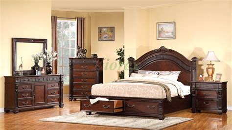 bedroom furniture storage summerhill wood sleigh storage bed in canby rustic pine by